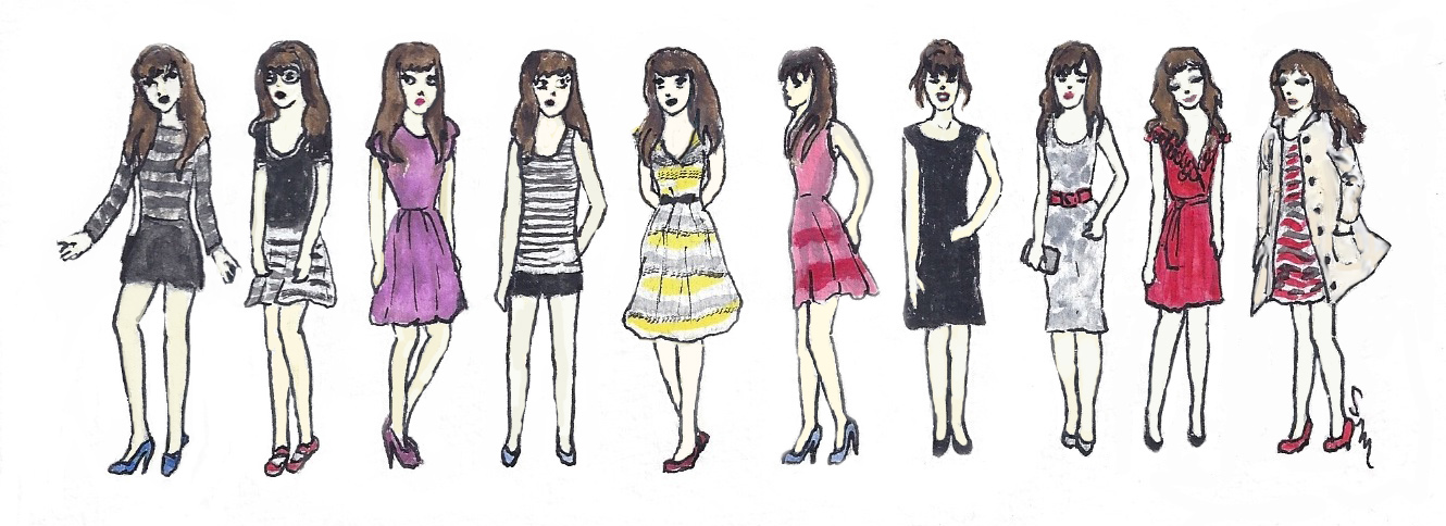 Ten Teeny Zooeys: Inspired by the Website, 'What Would Zooey Deschanel Wear?'