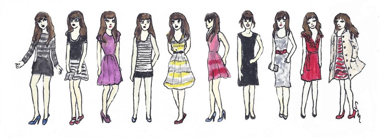 Ten Teeny Zooeys: Inspired by the Website, 'What Would Zooey Deschanel Wear?'