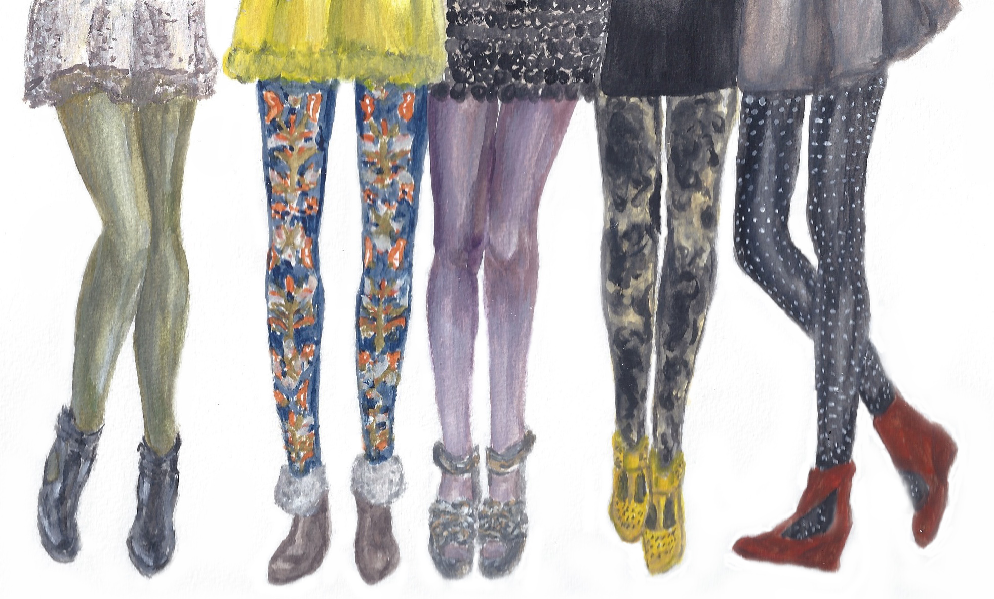 Winter Glam for Your Gams: Five Pairs of Cold-Weather Tights from Anthropologie