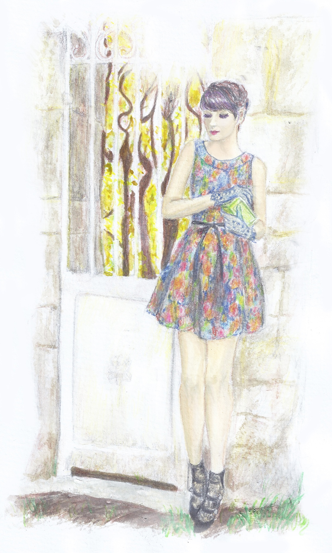 Nishe tapestry dress as seen on Alix of The Cherry Blossom Girl
