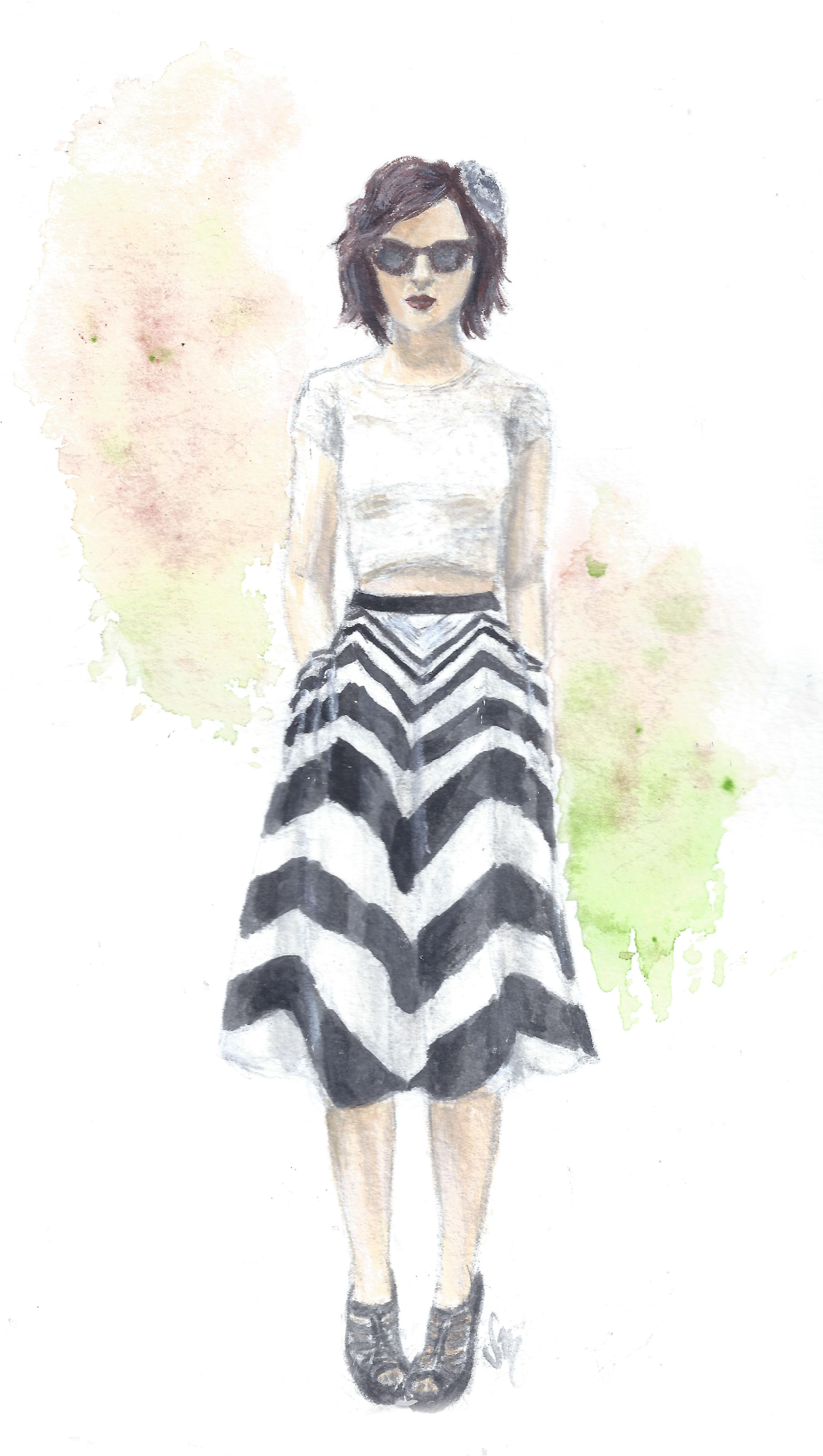 Stunning in Stripes: Blogger Keiko Lynn