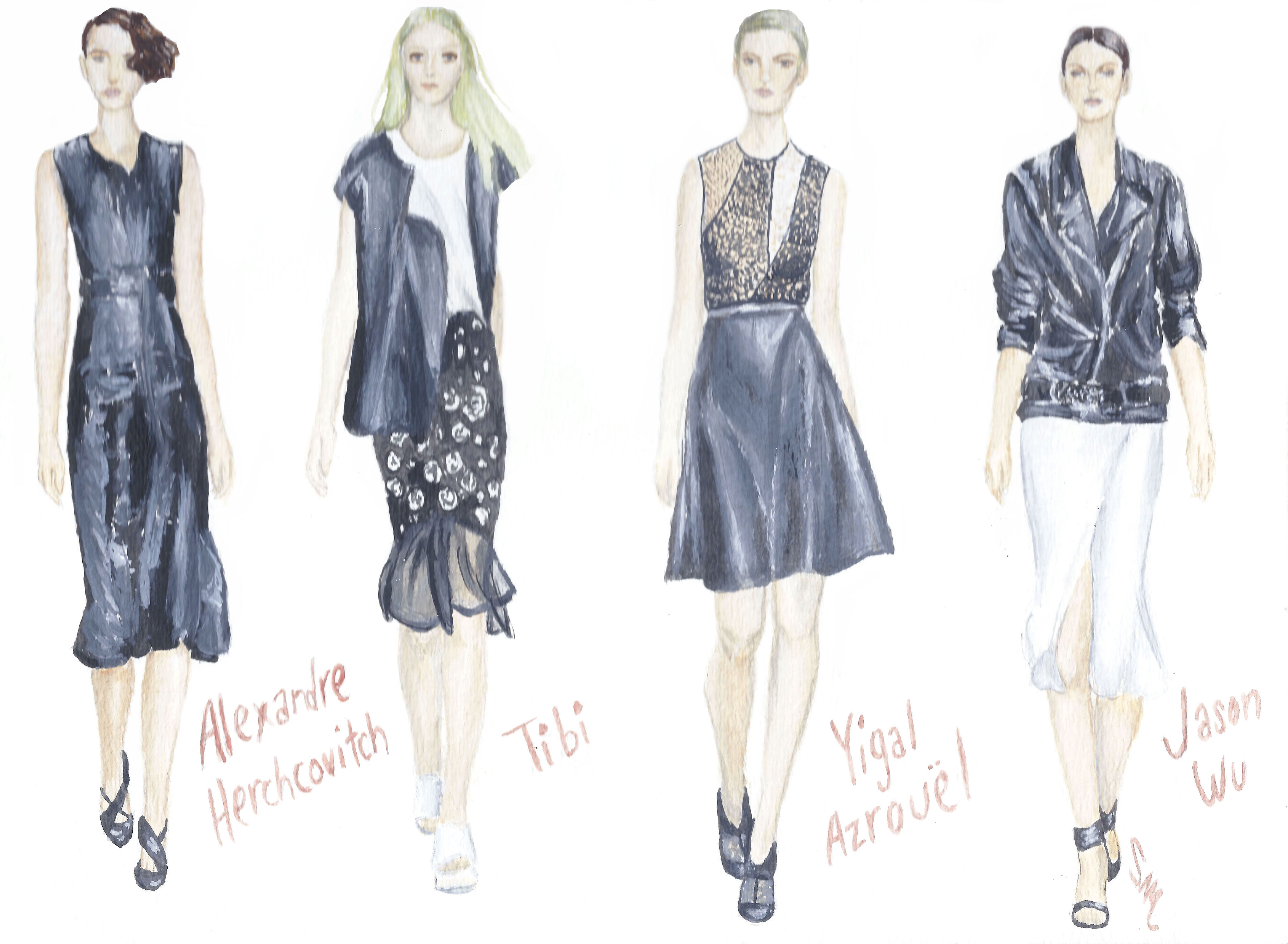 Lovely in Leather: Standout Looks from NYFW Spring RTW 2014 (Alexandre Herchcovitch, Tibi, Yigal Azrouël, Jason Wu)