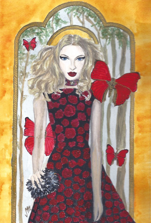 Roses and Butterflies, Inspired by Alice + Olivia at New York Fashion Week