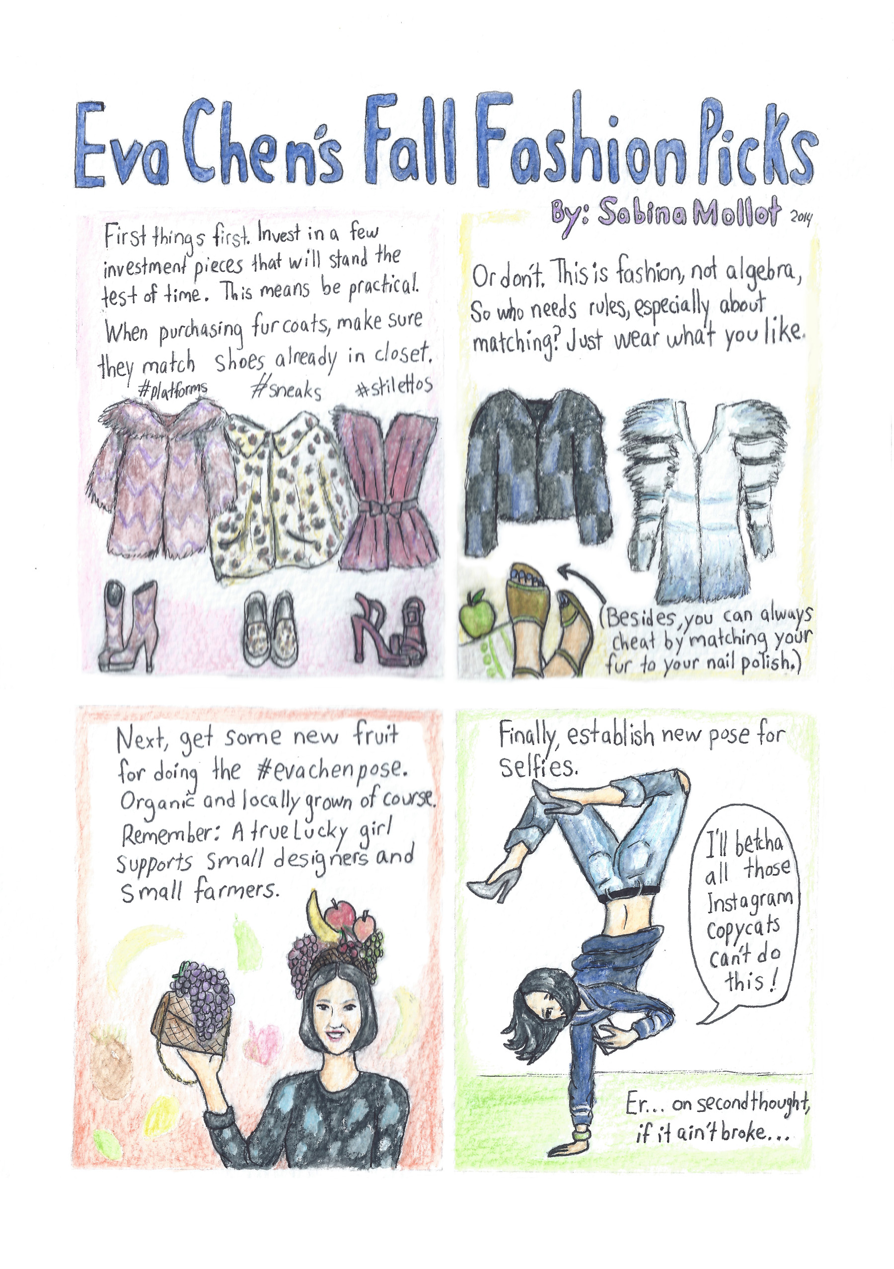 Comic: My predictions of Eva Chen's Fall Fashion Picks
