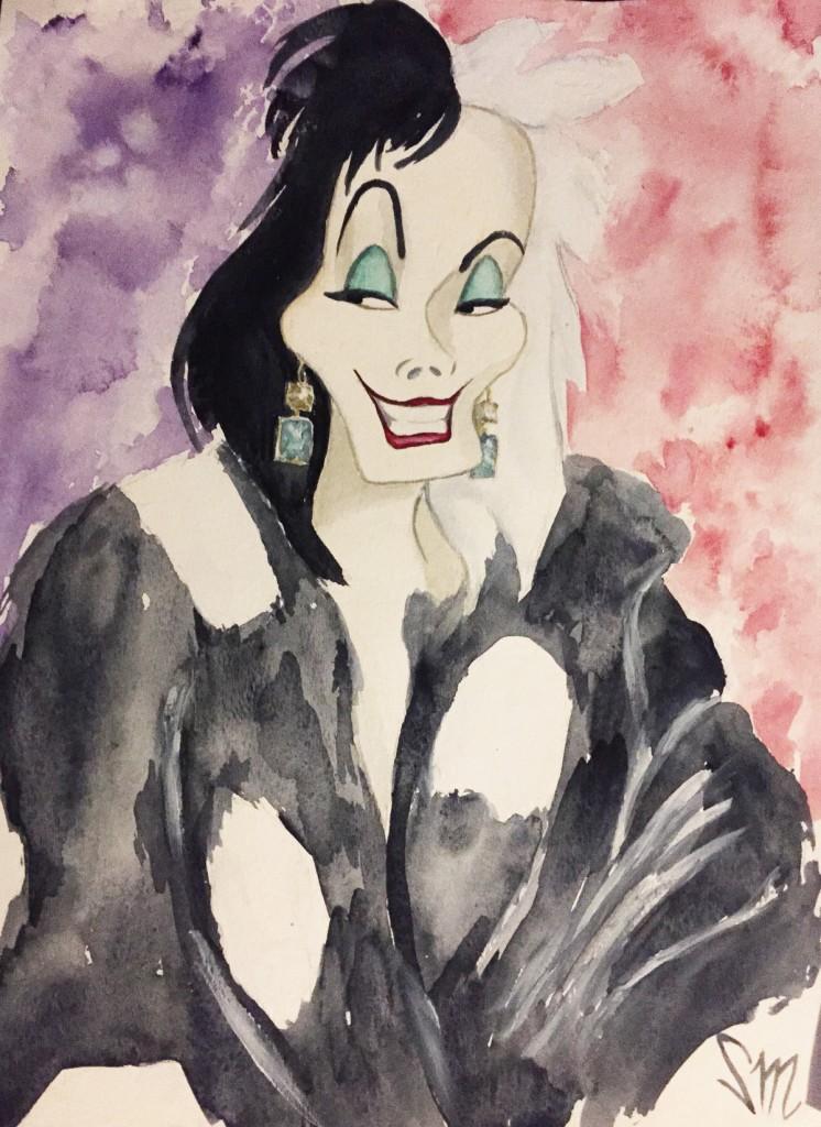 Cruella Saint Laurent polka dot fur
