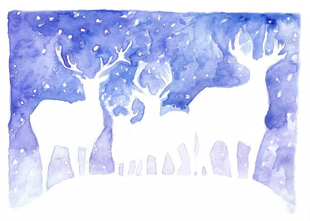 reindeer card sml