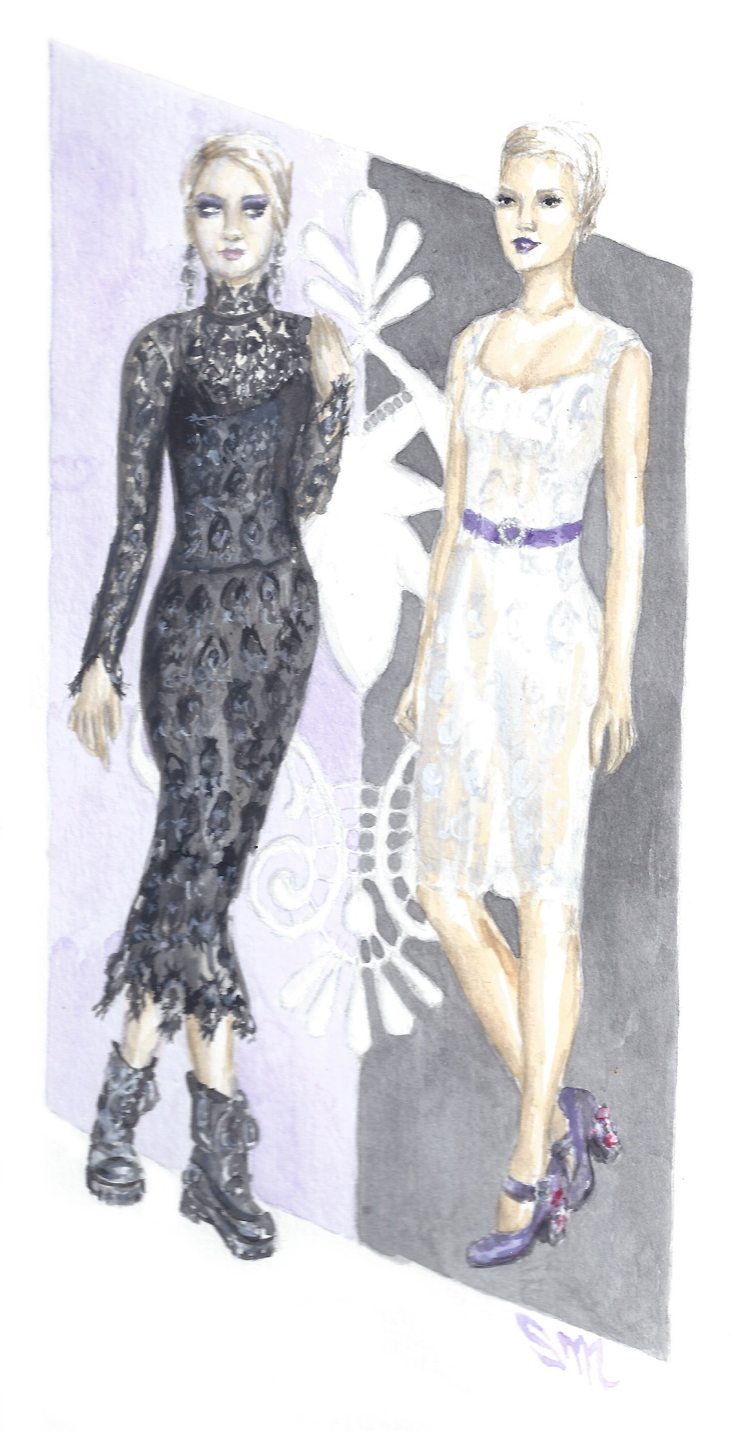 Black and White: Dolce and Gabbana Lace Dresses