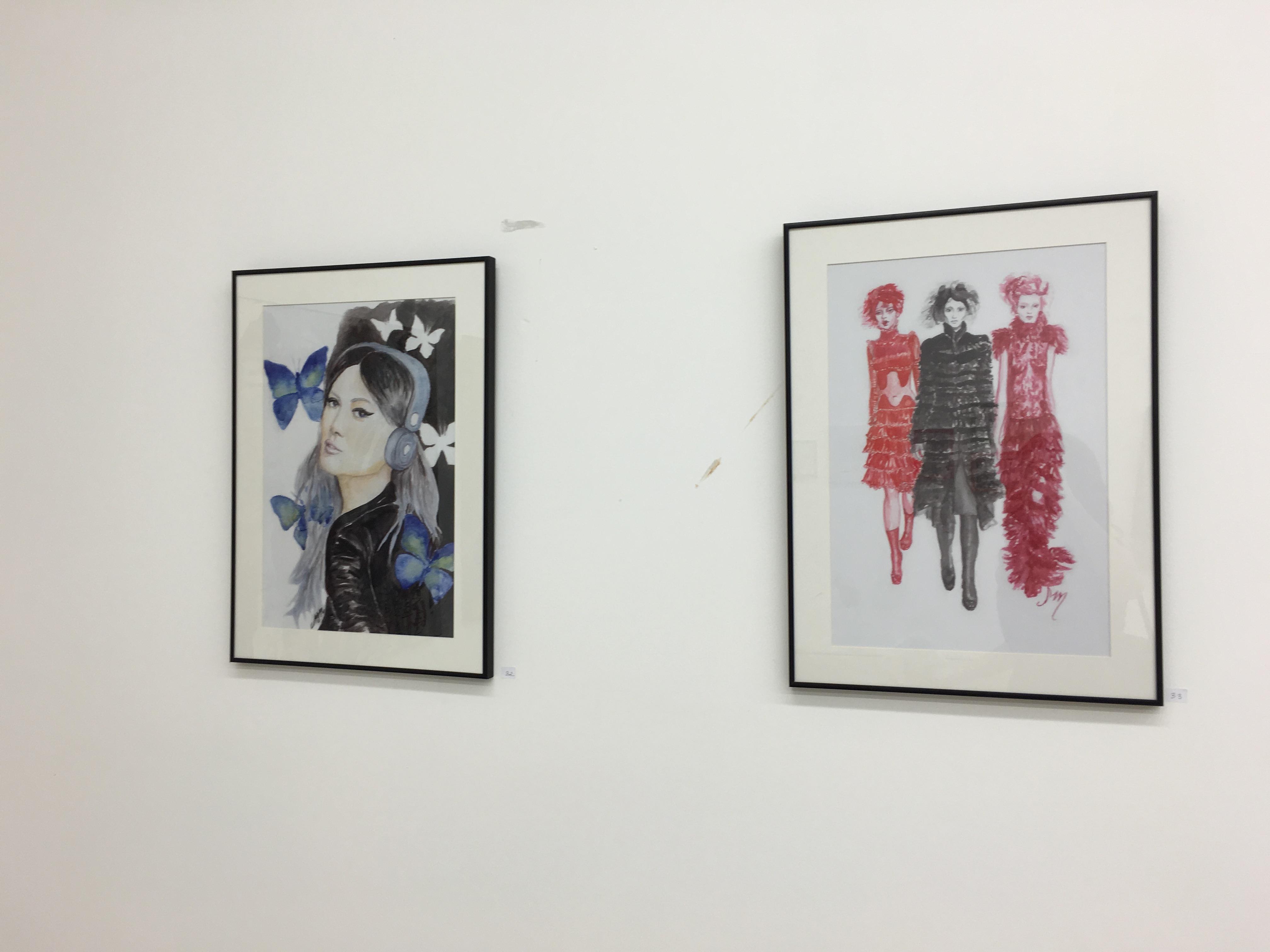 Prints on display at Artfront Galleries in Newark, NJ