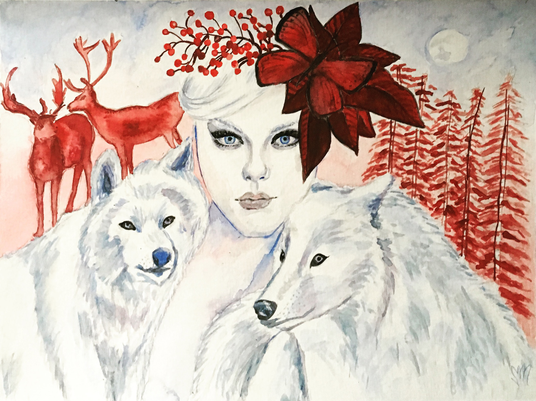 Winter Princess (Inspired by Jessica Stam)