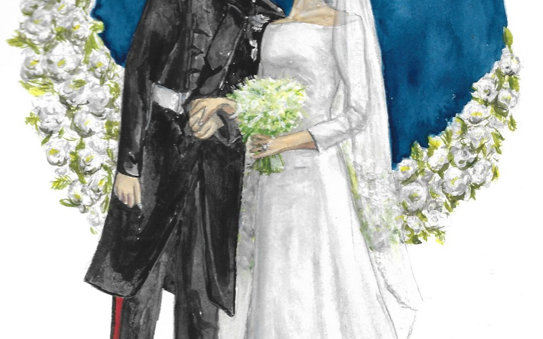 Royal Wedding Portrait: Meghan and Harry Seal the Deal with a Kiss